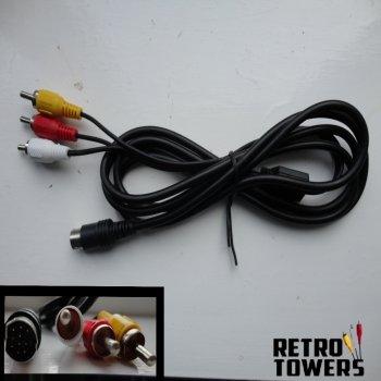 Sega Saturn AV RCA composite cable - RF replacement