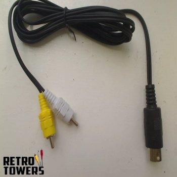 Sega Mega Drive Genesis 1 Master System AV RCA composite TV Cable - RF replacement