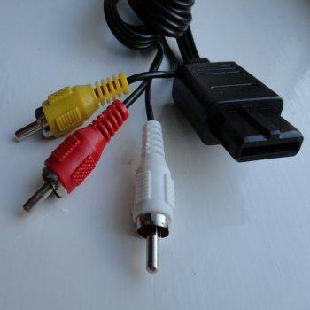 SNES Super Nintendo N64 Gamecube AV RCA Composite Cable Lead TV RF replacement